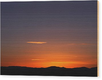 Serene Sunset Wood Print by Paul Cutright