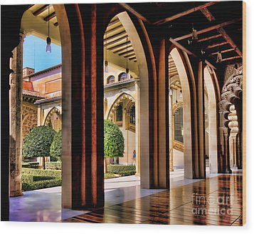 Wood Print featuring the photograph Serenity - Palace Garden by Jack Torcello