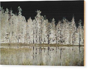 Serenity Wood Print by Bonnie Bruno