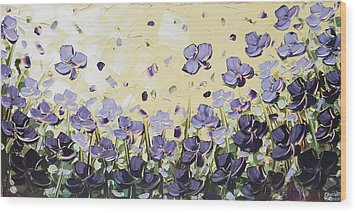Serenity Wood Print by Christine Krainock