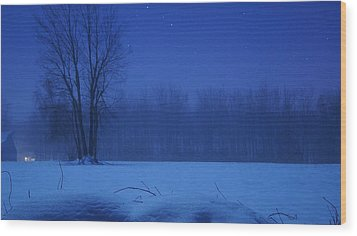 Serenity Wood Print by Tristan Bosworth