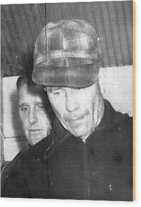 Serial Killer Ed Gein, Plainfeld Wood Print by Everett