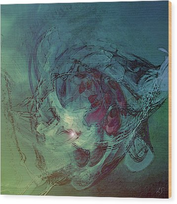 Serpent Head Wood Print by Linda Sannuti