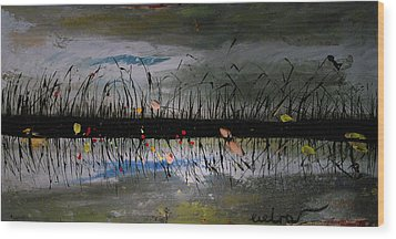 Set On The Firth Marshes Of Karalino Bugaz Goodbye Winter Wood Print by Alik Vetrof