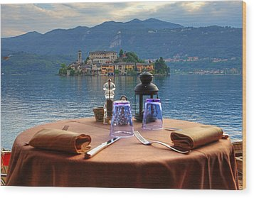 Set Table With A View Wood Print by Joana Kruse