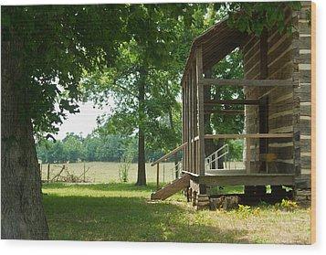 Settlers Cabin Arkansas 4 Wood Print by Douglas Barnett