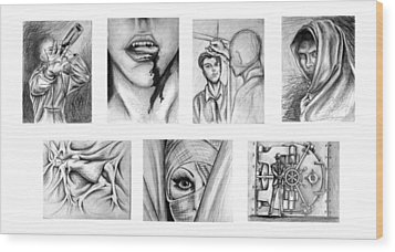 Seven Deadly Sins Wood Print by Steven  Burkett