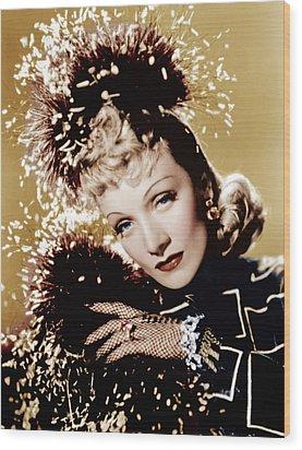 Seven Sinners, Marlene Dietrich, 1940 Wood Print by Everett