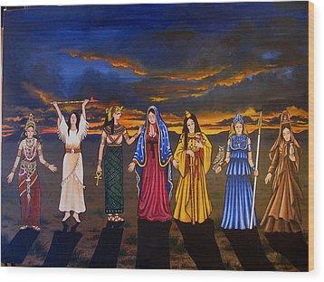 Seven Sisters Wood Print