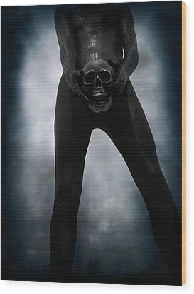 Sexy Snakeman Death 01 Wood Print by Michael Knight