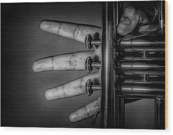Wood Print featuring the photograph Sforzando by Tom Gort