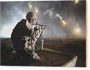 Sgt. Larry J. Isbell During The Armys Wood Print by Everett