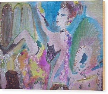 Shabby Chic The Dancer Wood Print by Judith Desrosiers
