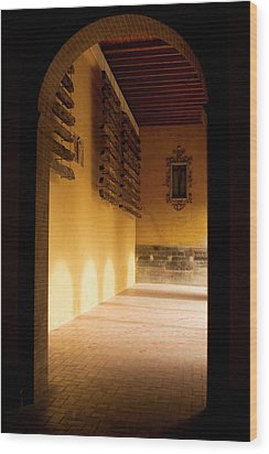 Wood Print featuring the photograph Shaded Portal by Lorraine Devon Wilke