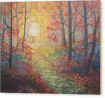 Shades Of A Dream Wood Print by Sharon Marcella Marston