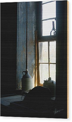 Wood Print featuring the photograph Shades Of Blue by Vicki Pelham