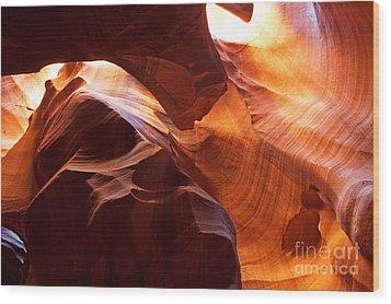 Shades Of Reflections Wood Print by Bob and Nancy Kendrick