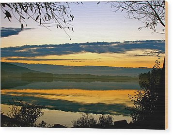 Shades Of Sundown Wood Print by Mike Stouffer