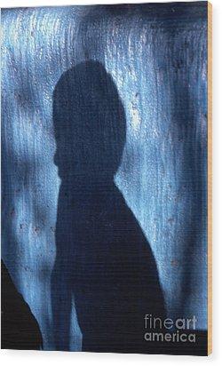 Shadow Wood Print by Barry Shaffer