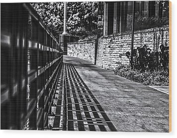 Wood Print featuring the photograph Shadow Walk by Tom Gort