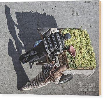 Shadows 2 Wood Print by Chuck Kuhn