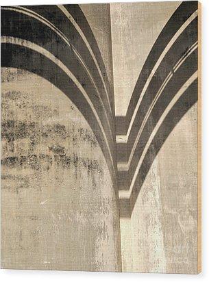 Shadows Industrial Decay  Wood Print