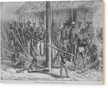 Shaka Slave Market In Africa Wood Print by Everett