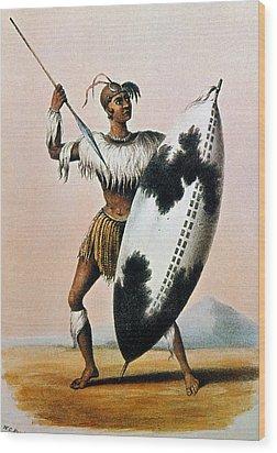 Shaka Zulu (c1787-1828) Wood Print by Granger