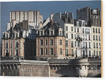 Shapes In Paris Wood Print by John Rizzuto