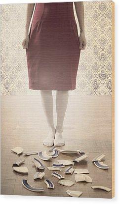 Shards Wood Print by Joana Kruse