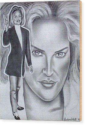 Sharon Stone Wood Print by Rick Hill