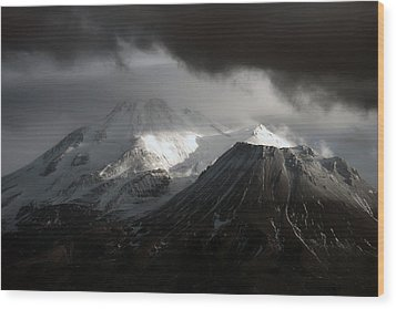 Shasta Mood Wood Print by Holly Ethan