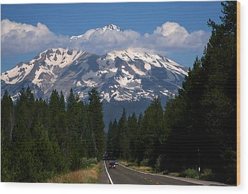 Shasta On The Road Again Wood Print by BuffaloWorks Photography