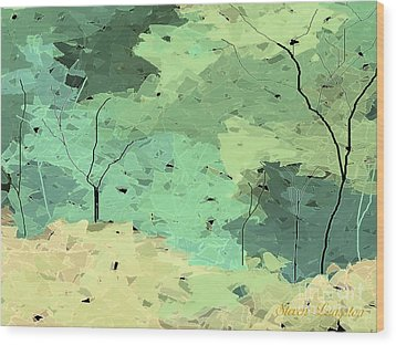 Wood Print featuring the painting Shattered Forest by Steven Lebron Langston