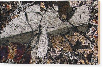 Shattered Lunar Landing Wood Print