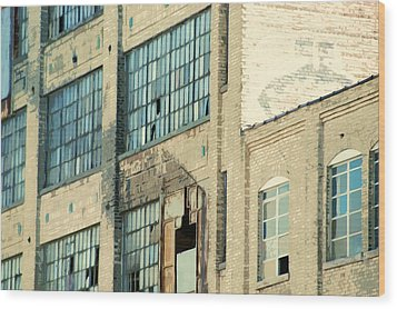Shaw Walker Building Wood Print by Ritter Photography And Fine Art Images