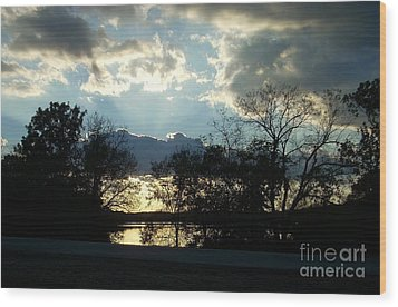 Shawnee Mission Park Sunset  Wood Print