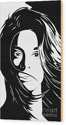 She Is Wood Print by Jack Norton