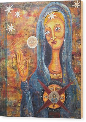 She Sees And Blesses All Wood Print by Suzan  Sommers