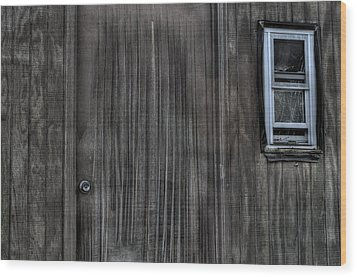 Shed Wood Print by Zawhaus Photography