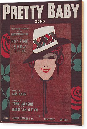 Sheet Music Cover, 1916 Wood Print by Granger