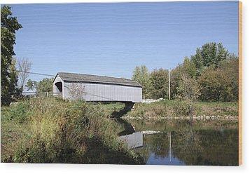 Sheffield Covered Bridge Wood Print
