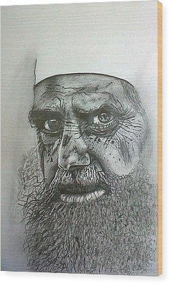 Sheikh I. Wood Print by Paula Steffensen