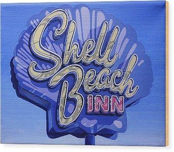 Shell Beach Inn Wood Print by Jeff Taylor