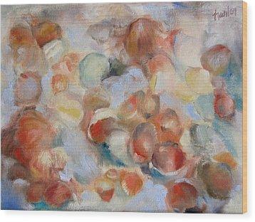 Shell Impression I Wood Print by Susan Hanlon