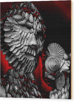 Shell Man Wood Print by Lori Seaman