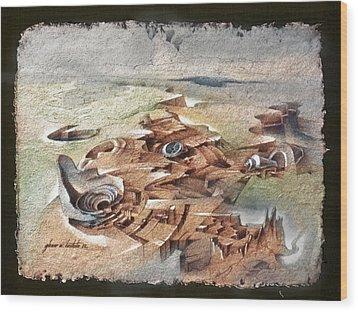 Shellscape 1982 Wood Print by Glenn Bautista
