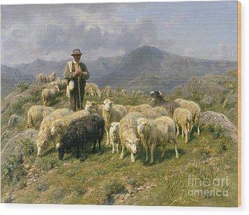 Shepherd Of The Pyrenees Wood Print by Rosa Bonheur