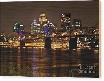 Sherman Minton Bridge Wood Print by Joe Finney