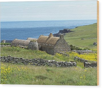 Shetland Croft House Museum Wood Print by George Leask